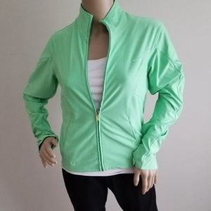 NIKE DRI-FIT GREEN STRETCH JACKET SIZE SMALL